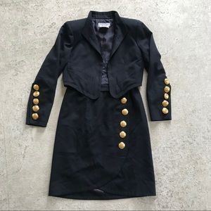 Yves Saint Laurent Jackets & Coats - YVES SAINT LAURENT Black Blazer Vintage 80's Retro
